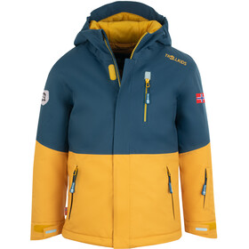 TROLLKIDS Hallingdal Veste Enfant, mystic blue/golden yellow